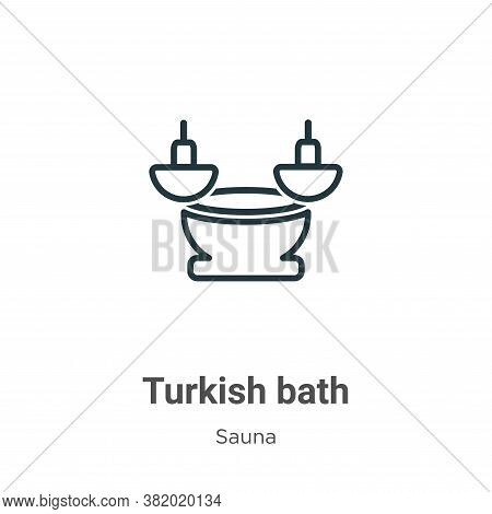 Turkish bath icon isolated on white background from sauna collection. Turkish bath icon trendy and m