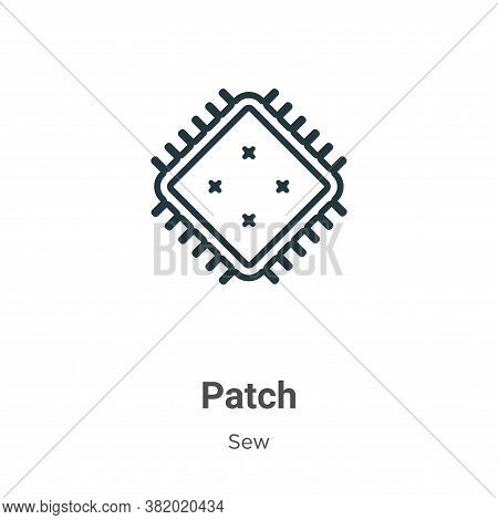 Patch icon isolated on white background from sew collection. Patch icon trendy and modern Patch symb