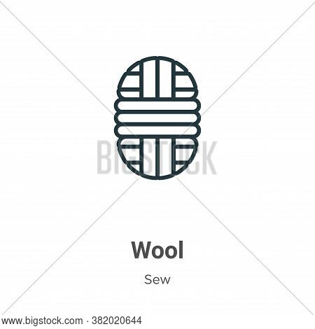 Wool icon isolated on white background from sew collection. Wool icon trendy and modern Wool symbol