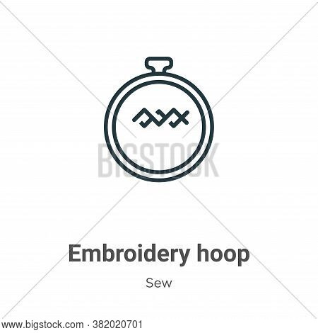 Embroidery hoop icon isolated on white background from sew collection. Embroidery hoop icon trendy a
