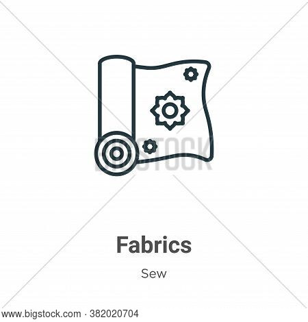 Fabrics icon isolated on white background from sew collection. Fabrics icon trendy and modern Fabric