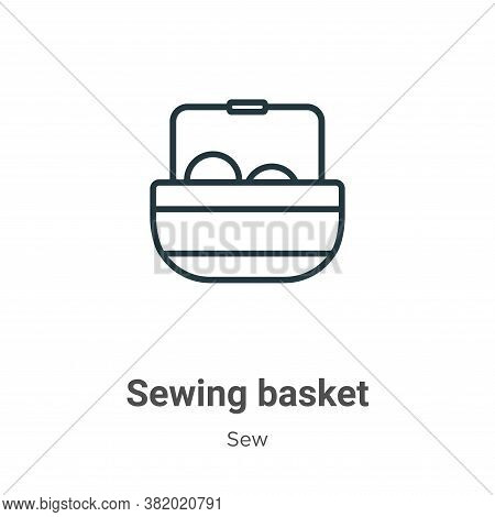 Sewing basket icon isolated on white background from sew collection. Sewing basket icon trendy and m