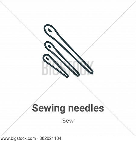 Sewing needles icon isolated on white background from sew collection. Sewing needles icon trendy and