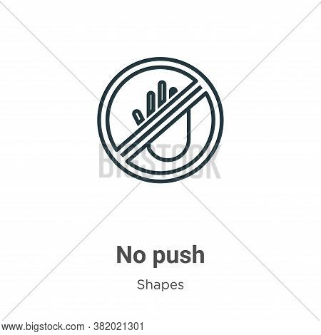 No push icon isolated on white background from shapes collection. No push icon trendy and modern No