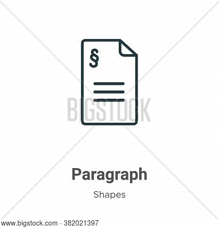 Paragraph icon isolated on white background from shapes collection. Paragraph icon trendy and modern