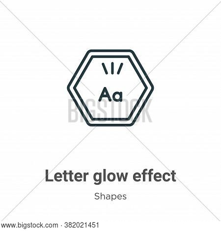 Letter glow effect icon isolated on white background from shapes collection. Letter glow effect icon