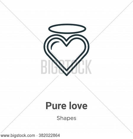 Pure love icon isolated on white background from shapes collection. Pure love icon trendy and modern
