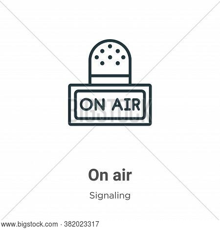 On air icon isolated on white background from signaling collection. On air icon trendy and modern On