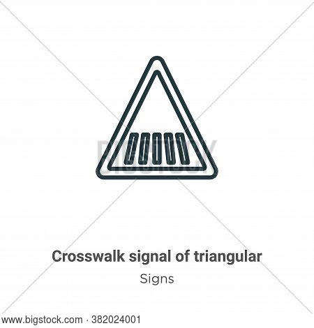 Crosswalk signal of triangular icon isolated on white background from signs collection. Crosswalk si