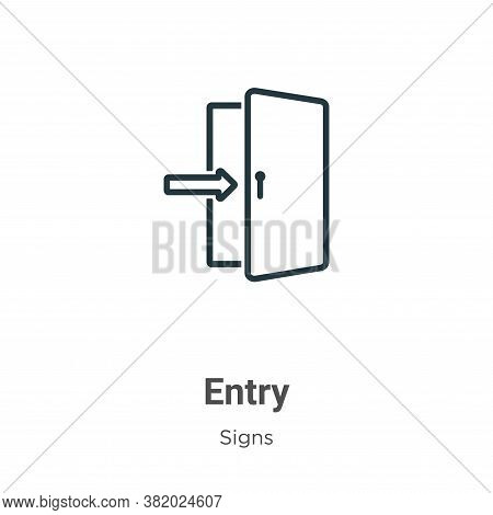 Entry icon isolated on white background from signs collection. Entry icon trendy and modern Entry sy