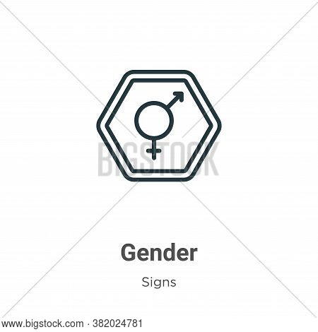 Gender icon isolated on white background from signs collection. Gender icon trendy and modern Gender