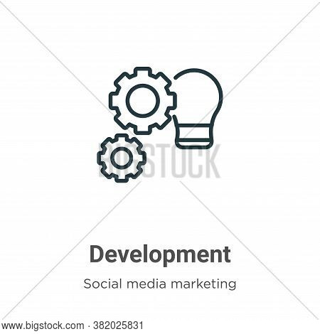 Development icon isolated on white background from social media marketing collection. Development ic