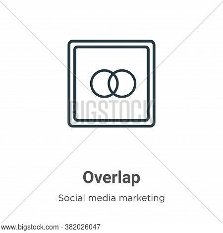 Overlap icon isolated on white background from social collection. Overlap icon trendy and modern Ove