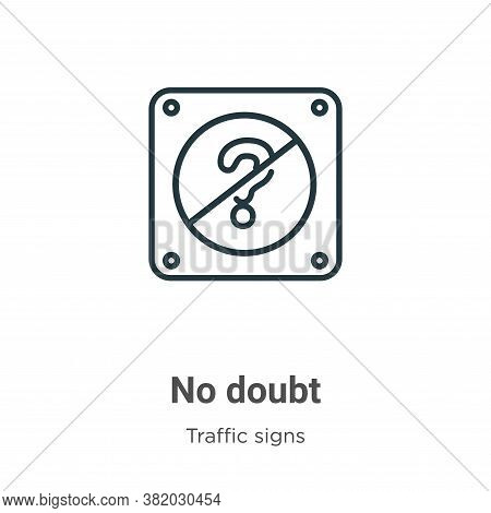 No doubt icon isolated on white background from traffic signs collection. No doubt icon trendy and m