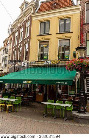 Utrecht, The Netherlands - 29 Jun, 2020: Subway Shop In Utrecht. Subway Is A Place To Get A Sandwich