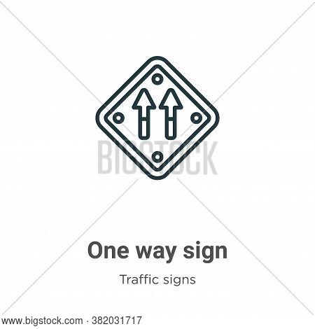 One way sign icon isolated on white background from traffic signs collection. One way sign icon tren