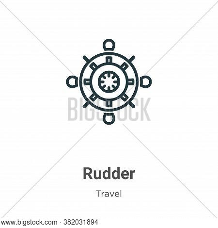 Rudder icon isolated on white background from travel collection. Rudder icon trendy and modern Rudde