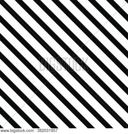 Striped Diagonal Abstract Seamless Geometrical Black And White Pattern. Diagonal Lines. Vector Illus