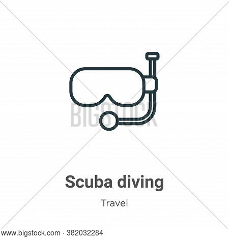 Scuba diving icon isolated on white background from travel collection. Scuba diving icon trendy and