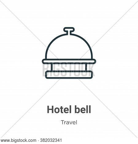 Hotel bell icon isolated on white background from travel collection. Hotel bell icon trendy and mode