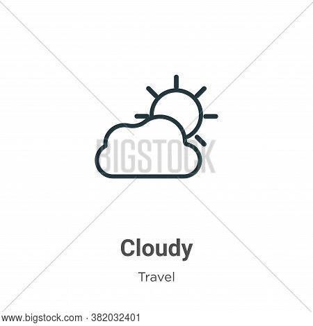 Cloudy icon isolated on white background from travel collection. Cloudy icon trendy and modern Cloud