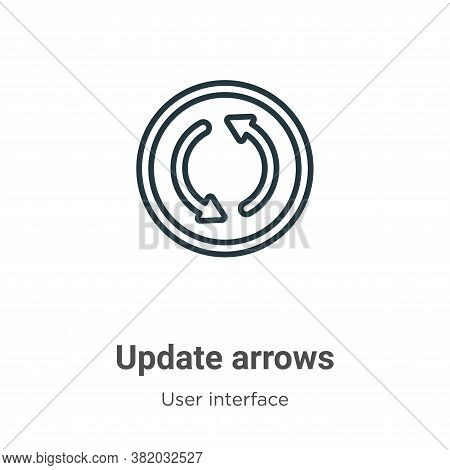 Update arrows icon isolated on white background from user interface collection. Update arrows icon t
