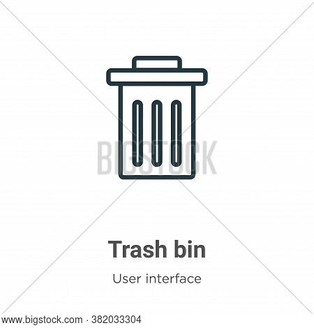 Trash bin icon isolated on white background from user interface collection. Trash bin icon trendy an