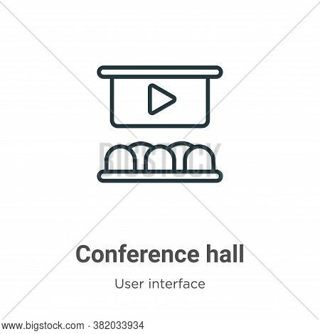 Conference hall icon isolated on white background from user interface collection. Conference hall ic