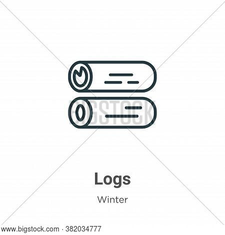Logs icon isolated on white background from winter collection. Logs icon trendy and modern Logs symb