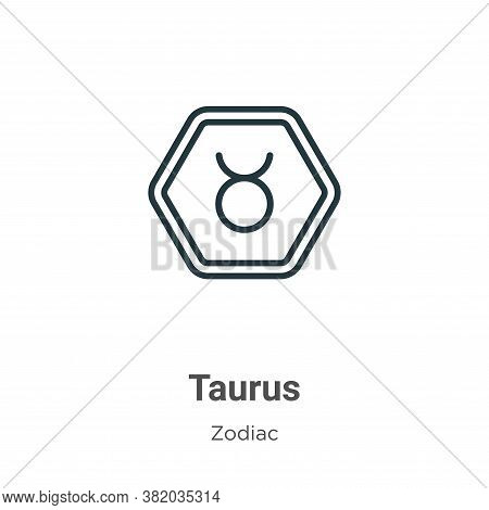 Taurus Icon From Zodiac Collection Isolated On White Background.