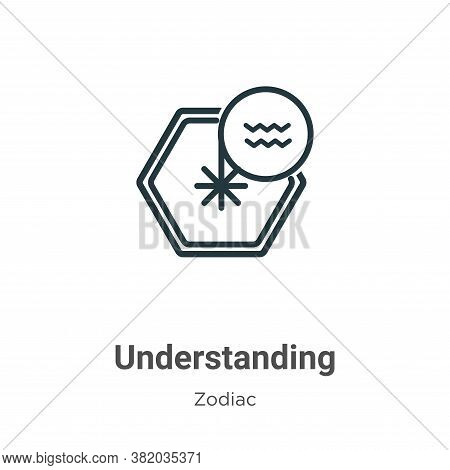 Understanding Icon From Zodiac Collection Isolated On White Background.