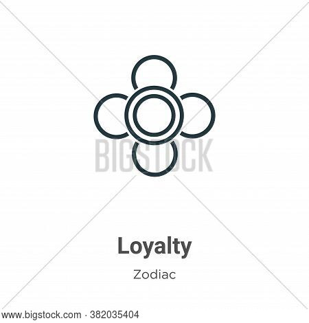 Loyalty icon isolated on white background from zodiac collection. Loyalty icon trendy and modern Loy