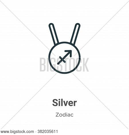 Silver icon isolated on white background from zodiac collection. Silver icon trendy and modern Silve