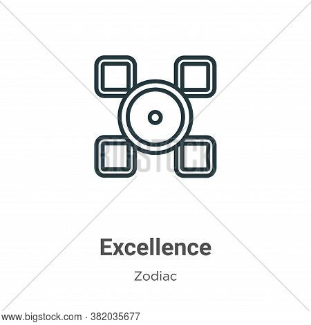 Excellence icon isolated on white background from zodiac collection. Excellence icon trendy and mode