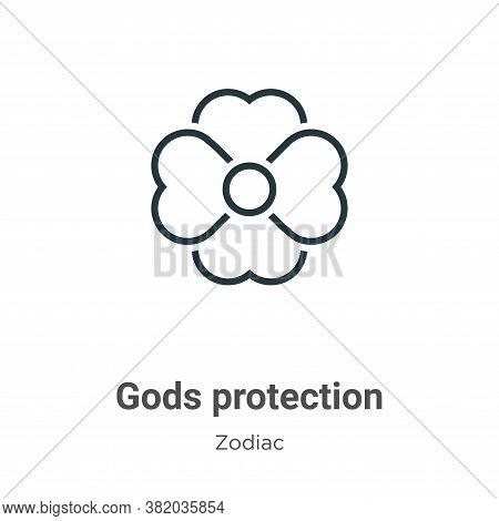 Gods protection icon isolated on white background from zodiac collection. Gods protection icon trend