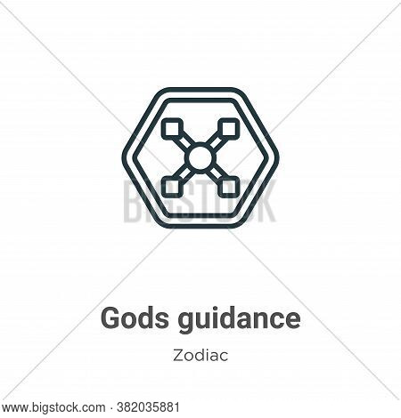 Gods guidance icon isolated on white background from zodiac collection. Gods guidance icon trendy an