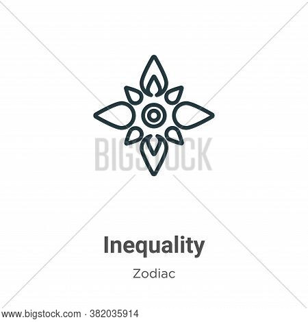Inequality icon isolated on white background from zodiac collection. Inequality icon trendy and mode