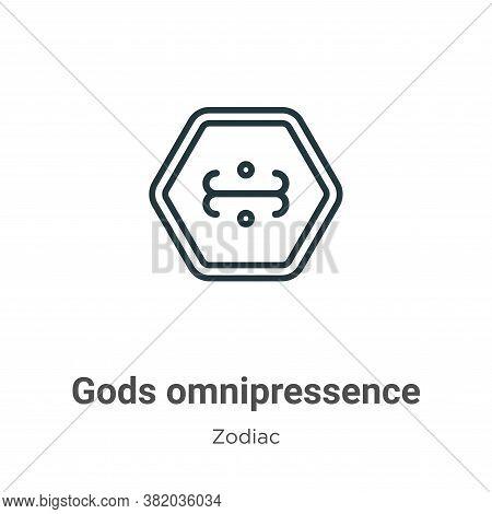 Gods omnipressence icon isolated on white background from zodiac collection. Gods omnipressence icon
