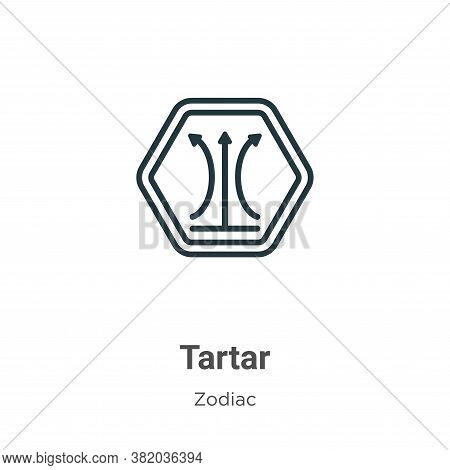 Tartar icon isolated on white background from zodiac collection. Tartar icon trendy and modern Tarta