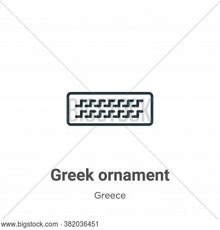 Greek ornament icon isolated on white background from greece collection. Greek ornament icon trendy