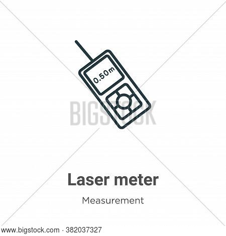 Laser meter icon isolated on white background from measurement collection. Laser meter icon trendy a