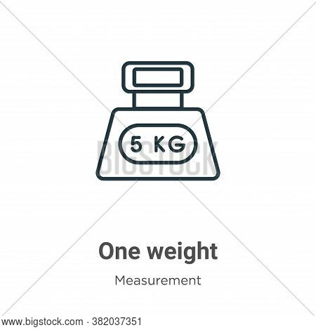 One weight icon isolated on white background from measurement collection. One weight icon trendy and