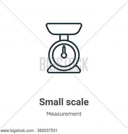 Small scale icon isolated on white background from measurement collection. Small scale icon trendy a