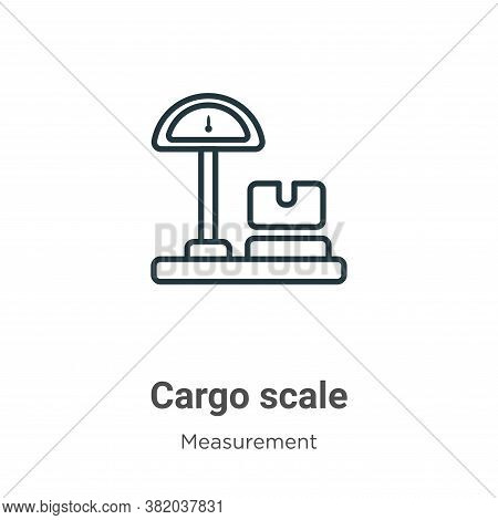 Cargo scale icon isolated on white background from measurement collection. Cargo scale icon trendy a