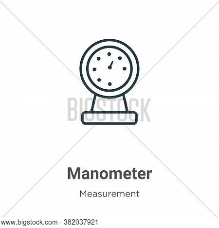 Manometer icon isolated on white background from measurement collection. Manometer icon trendy and m