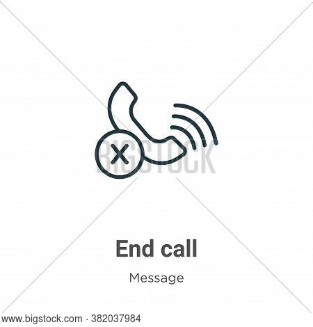 End call icon isolated on white background from message collection. End call icon trendy and modern