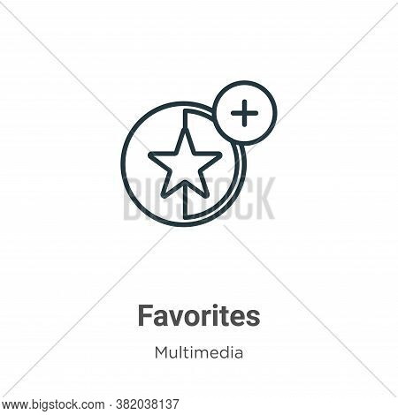 Favorites icon isolated on white background from multimedia collection. Favorites icon trendy and mo