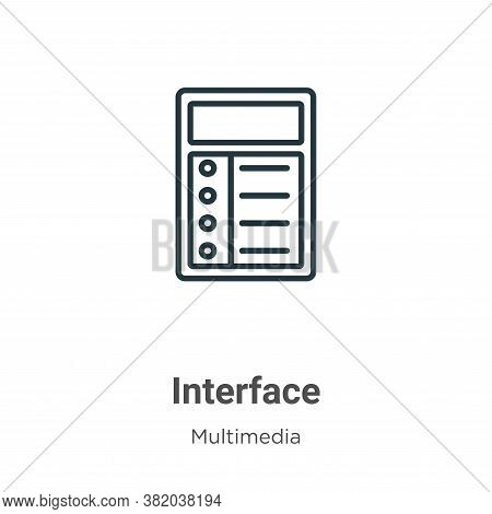 Interface icon isolated on white background from multimedia collection. Interface icon trendy and mo