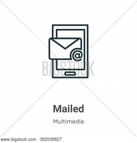 Mailed icon isolated on white background from multimedia collection. Mailed icon trendy and modern M
