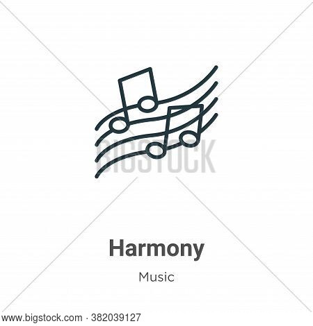 Harmony icon isolated on white background from music collection. Harmony icon trendy and modern Harm